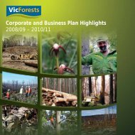 Corporate and Business Plan Highlights 2008/09 ... - VicForests