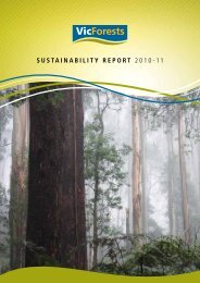 VicForests Sustainability Report 2011