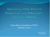 House PPACA Committee Packet - The Florida Senate