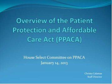 House PPACA Committee Packet - The Florida Senate