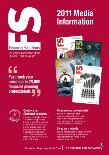 2011 Media Information - The Personal Finance Society
