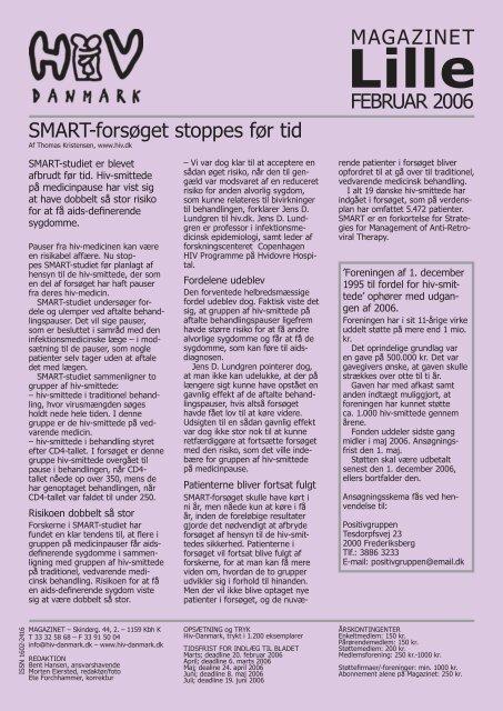 FEBRUAR 2006 MAGAZINET SMART-forsøget ... - Hiv-Danmark
