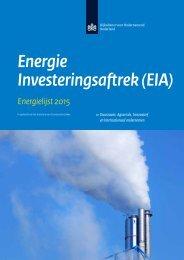 Energie investeringsaftrek - Energielijst 2015