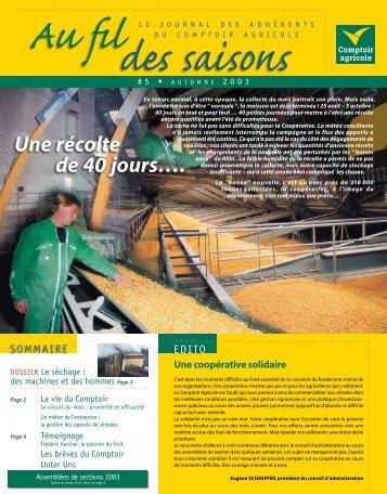 Fil Des Saisons #5 Automne 2003 - Comptoir Agricole