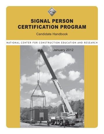 Signal Person Candidate Handbook - NCCER