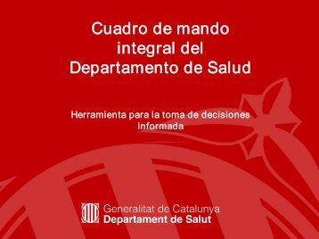Cuadro de mando integral del Departamento de Salud