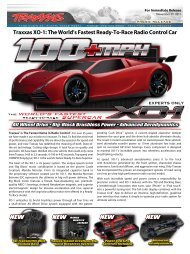 Traxxas XO-1: The World's Fastest Ready-To-Race Radio Control Car