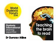 Dr Duncan Milne - Dyslexia International