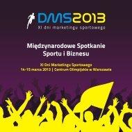DMS 2013 broszura KG - XII Dni Marketingu Sportowego - SportWin