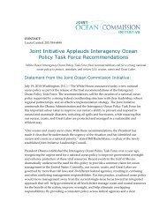 Joint Initiative Applauds Interagency Ocean Policy Task Force ...