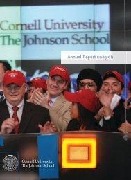 Annual Report 2005-06 - Johnson Graduate School of Management ...