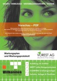 Wartungsplan und -protokoll - Vorest AG