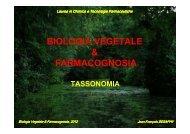 Tassonomia - Università degli Studi di Bari