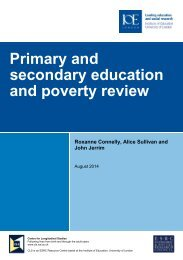 Primary and secondary education and poverty review August 2014