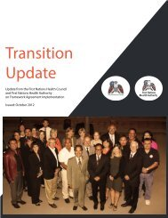 Transition Update | pdf download - First Nations Health Council