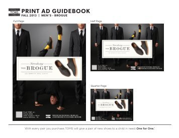 PRINT AD GUIDEBOOK - TOMSShoes.com