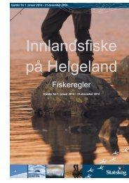 Fiskeregler på Helgeland - Statskog
