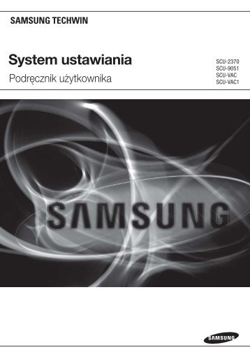 System ustawiania - Samsung CCTV