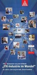 Einladung und Programm des ITK-Symposium