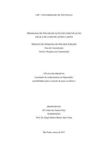USP - UNIVERSIDADE DE SÃO PAULO PROGRAMA ... - ECA - USP