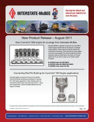 New Product Release – August 2011 - Interstate McBee
