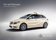 Taxi- und Mietwagen-Preisliste von B-Klasse bis