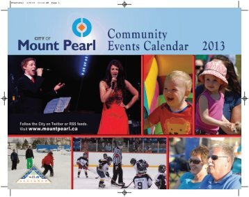 2013 Community Events Calendar - City of Mount Pearl