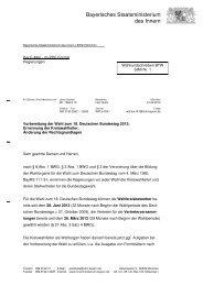 Rundschreiben BTW Nr. 1 - Wahlen - Bayern
