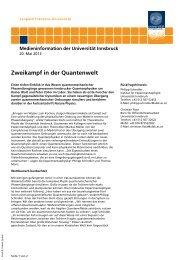 Zweikampf in der Quantenwelt