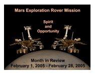February 28, 2005 - Mars Exploration Rover Mission - NASA