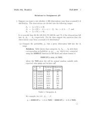 Math 152. Rumbos Fall 2009 1 Solutions to Assignment #9 1 ...