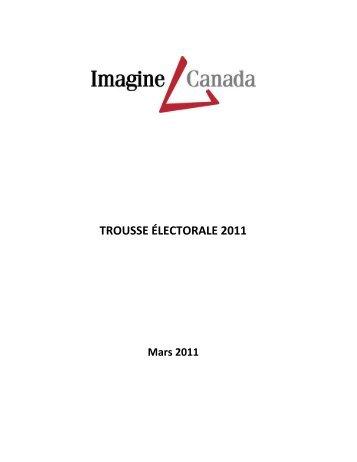 TROUSSE ÉLECTORALE 2011 - Imagine Canada