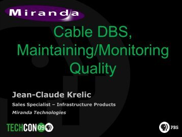 AFD, Cable DBS, Maintaining/Monitoring Quality (Krelic) - PBS