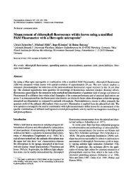 Measurement of chlorophyll fluorescence within leaves ... - Springer
