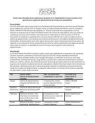 Puntos clave derivados de las evaluaciones de países en la ...