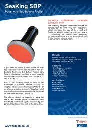SeaKing SBP - Parametric Sub-Bottom Profiler - Tritech
