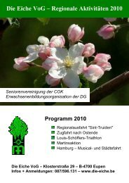 Regionalprogramm - Die Eiche VoG
