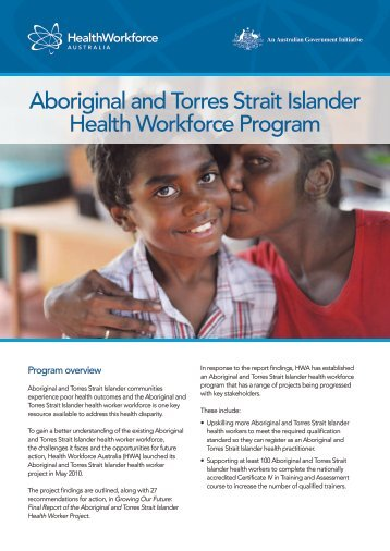 Aboriginal and Torres Strait Islander Health Workforce Program