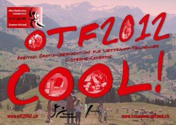 Flyer Juni 2011 - Oberländisches Turnfest 2012 Saanen-Gstaad
