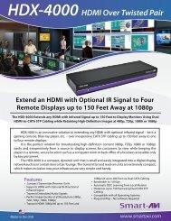 HDX-4000 HDMI Over Twisted Pair - SmartAVI