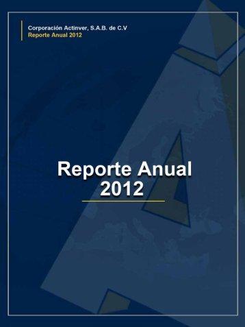 Reporte Anual para Accionistas - Actinver