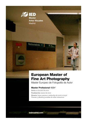 Master Europeo de Fotografía de Autor (European ... - IED Madrid