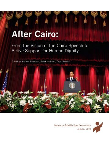 After Cairo: - Democracy and Society