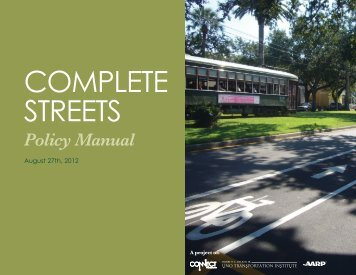 Complete Streets Manual - Prevention Research Center at Tulane ...