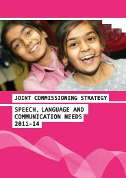Speech, Language and Communication Needs Joint ...