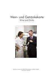 Wein- und Getränkekarte