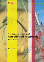 Procedure Unsolicited Proposals - ProRail