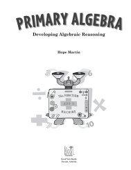 Developing Algebraic Reasoning - ActiveMath