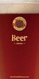 Beer - Carolina Ale House
