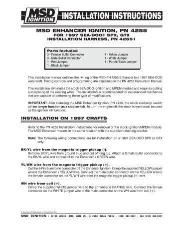 msd enhancer ignition pn 4255 exhaust gas technologies inc?quality=85 msd enhancer ignition for the yamaha banshee, pn kt4204 yamaha 701 msd enhancer wiring diagram at alyssarenee.co